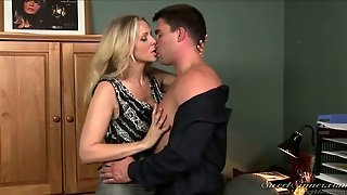 Blonde, Milf, Office Sex, Stockings, Cougar, Busty