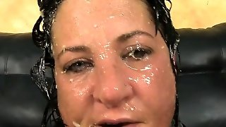 Dirty Slut Gags And Pukes From Mouth Fucking