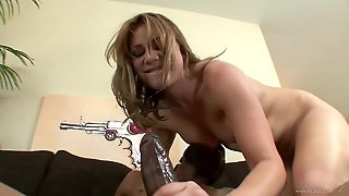 Aurora Snow Blows A Black Cock Before Being Fucked