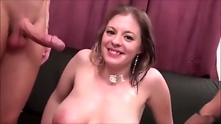 Pregnant Big Tits French Maid