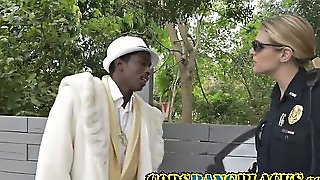 White Cunt Drilled With Black Dick