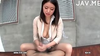 Japanese Lady Jerking Cock