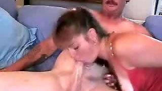Mature Woman Demonstrating Her Tattoos And Sucking Skills