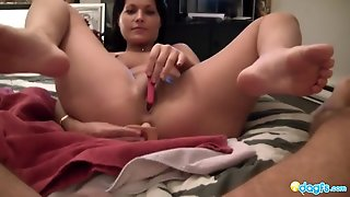 Masturbate To Your Gf As She Toys Her Ass