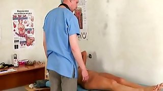 Tough Medical Check-Up For Sexy Redhead Teen