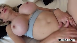 Adulterous English Milf Lady Sonia Reveals Her Giant Puppies