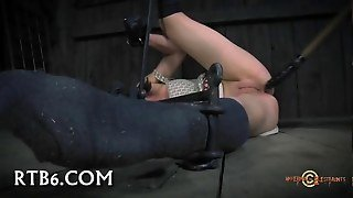 Shaved Wet Pussy Toyed Bdsm 13