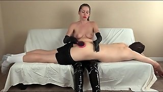 Spanking And Hairbrush Paddling From His Mistress