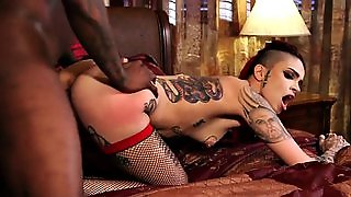 Inked Emo Beauty Drilled By An Enormous Bbc