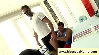 Bearded Man Comes In For A Massage