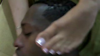 Hot Footjob By Cute Girl