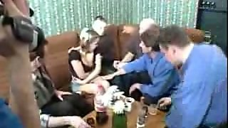 Russian Slutty Chick Agrees For Amateur Gangbang With My Friends