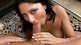 Milf, Shaved, Tattooed, Ball Licking, Swallow, Blowjob, Deepthroat, White, Oral, Fake Boobs