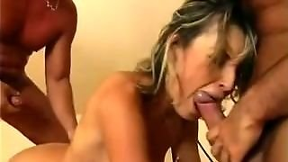 Double Penetration, Anal, Dp, Babe, Cock In Pussy