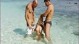 Group Beach Sex With Blonde Busty Teen