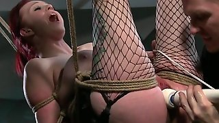 Redhead With Tied Up Big Tits Fetish Gagging