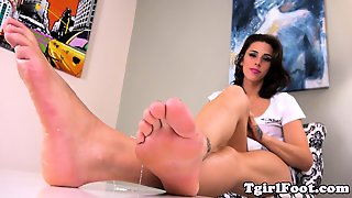 Dirty Feet Tgirl Teasing With Her Kinky Soles