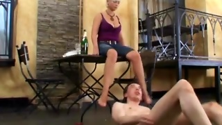 Waiter Licks Dirty Feet Of Client