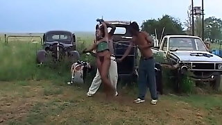 Kinky Ebony Sex Slave Getting Her Pussy Wrecked Outdoors