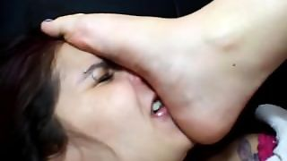 Slave Domination And Foot Sniffing (1/2)