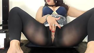 Hungry Brunette Solo Masturbation