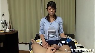 A Naturally Busty Japanese Girl Getting Titty Fucked