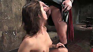 Bondage Scene Leaves Hottie With A Stretched Out Ass