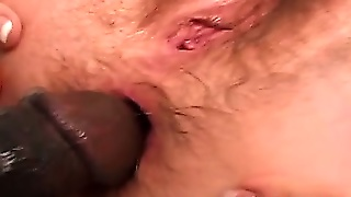 Hairy Interracial Anal Pounding