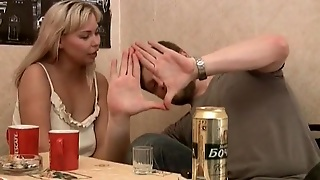 Curvy Blonde Edeline Gets Drunk With Her Bf