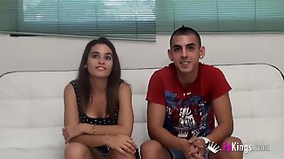 Two Young Couples Having Fun Together On Camera In A Foursome