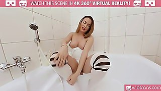 Ts Vr Porn-Big Tits Ts Masturbating And Ass Play In The Bathtub