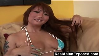 Bigboobed Asian Babe Is Ready For Huge White Dick