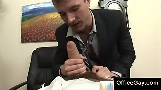 Sexy Gay Blowjobs At The Office