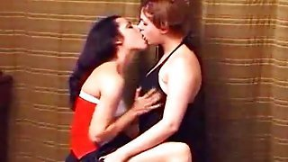 Lesbian Kissing Lovers Aggressively