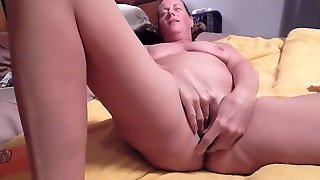 Horny And Slutty Granny Toying Her Wet Vagina In Solo Video