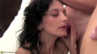 Wild Wild Gangbang With Two Mature Mothers