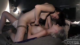 Hot Amateurs Try Their First Strapon Sex Session