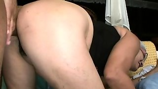 White Hoochie In A Corset Gets Herself A Young Black Dick To Fuck