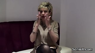 Adulterous English Milf Lady Sonia Shows Her Huge Melons