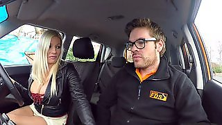 Fake Driving School Squirting Orgasm Busty Milf Takes Creamp