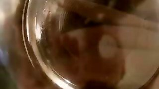Petite Babe Pissed On The Bowl And Drink Her Piss