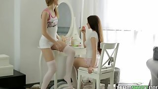 Sexy Teen Pussy Pals Have After School Orgasms