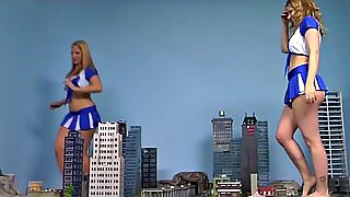 Giantess Cheerleaders