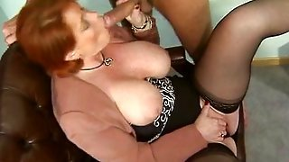 Kira Red - German Mature Fucked In The Office