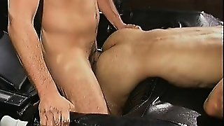 Horny Stud Bends Over To Have His Friend Tonguing And Fucking His Tight Butt Hole