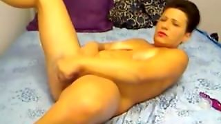 Mature Aminna Masturbates Her Slutty Old Holes