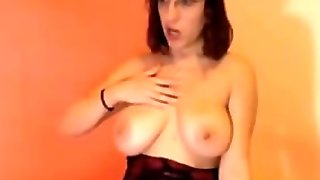 Brunette With Big Natural Tits Masturbate