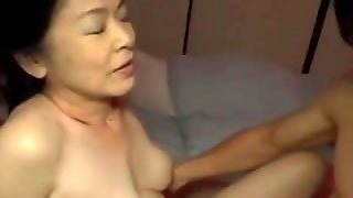 Mature Woman Fucked By Young Guy Creampie While Husband Sleeping In The Dar