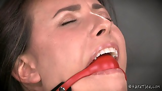 Milf, Bdsm, Tied On Chair, Weights, Mouth Gagged, Brunette, Ropes, Pussy Gaping, Clamps, Hd