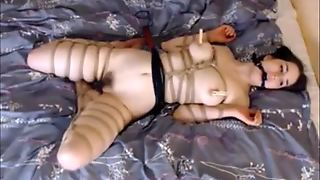Dildoed And Whipped In Bondage